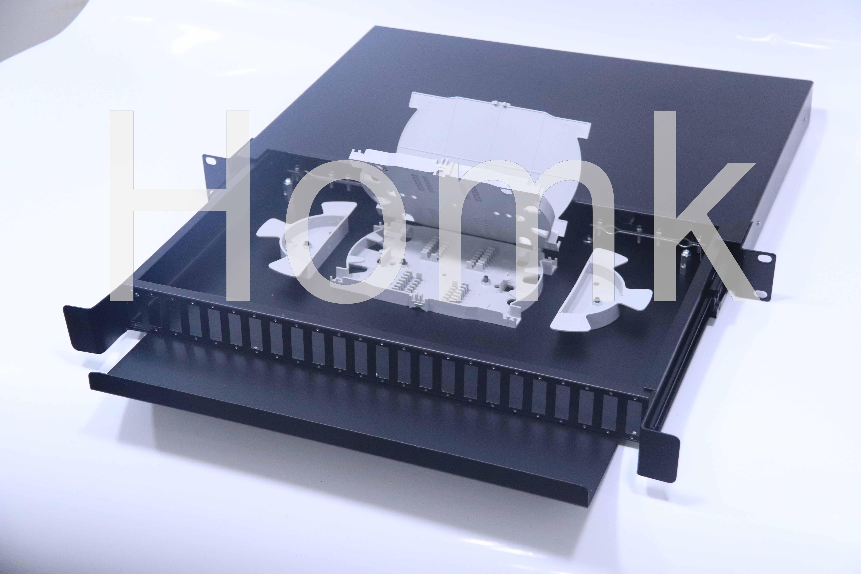 Outdoor Rack Mount Drawer Type Fiber Terminal Box 48 Core
