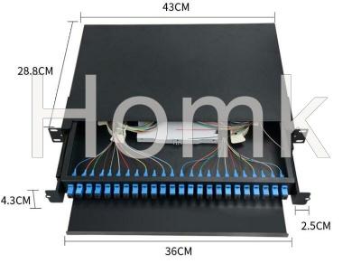 Outdoor Rack Mount Drawer Type Fiber Terminal Box 24 core