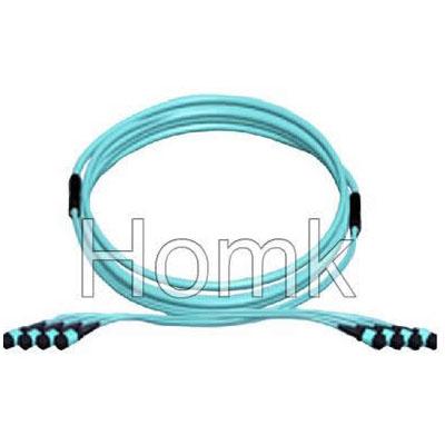 MPO fiber optic cord OM3
