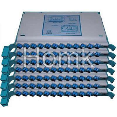 SC pigtail fiber optic splice tray